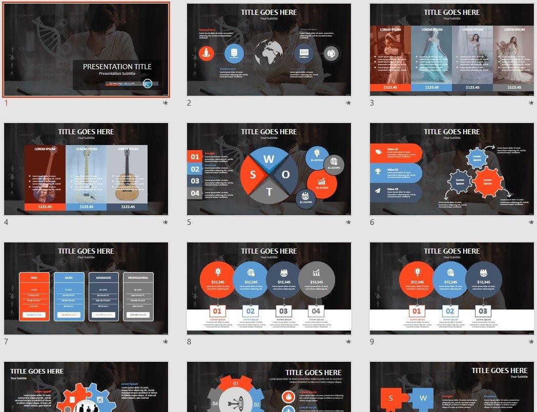 Free analyzing dna PowerPoint #97960 | SageFox Free PowerPoint ...