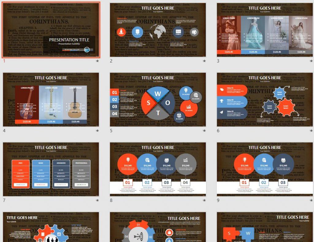 Corinthians PowerPoint by SageFox
