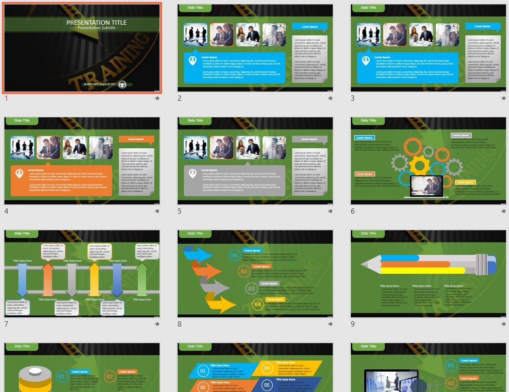 free training powerpoint 100297 sagefox free powerpoint templates