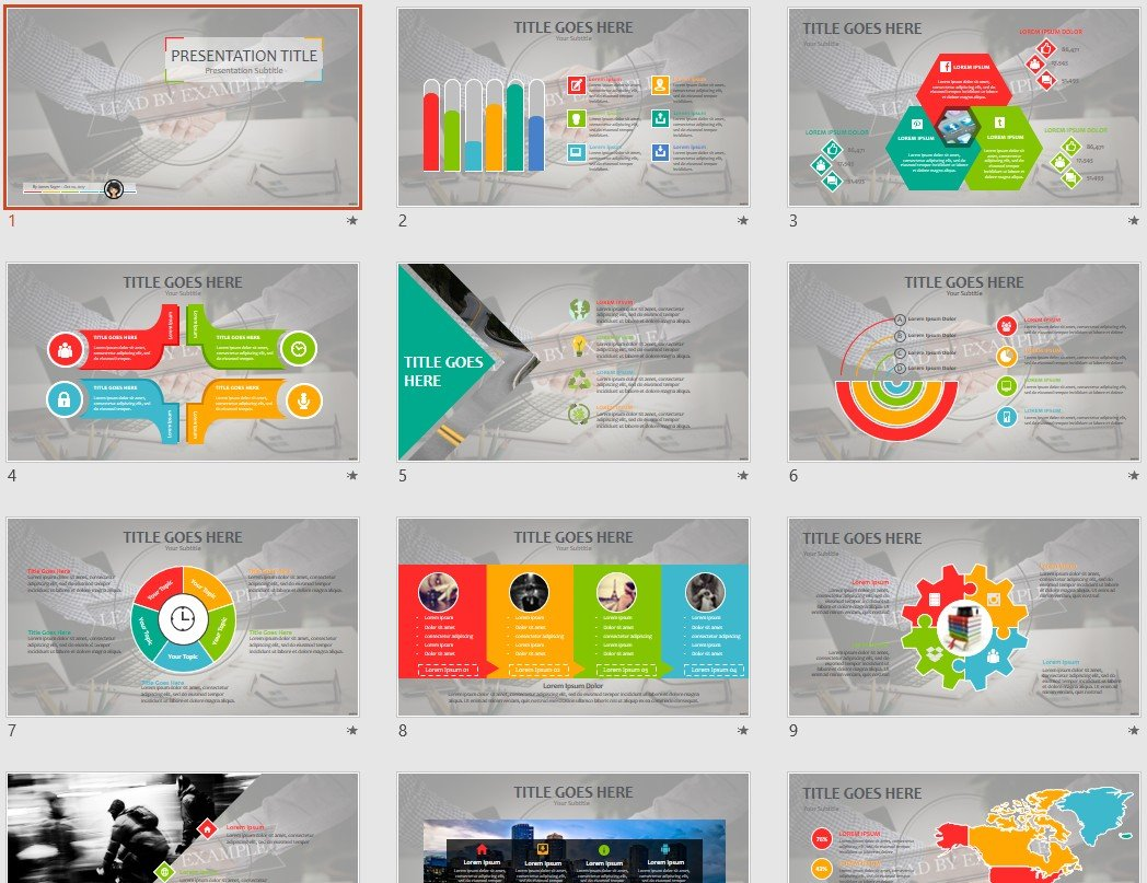 Free Lead By Example Powerpoint 100307 Sagefox Free Powerpoint