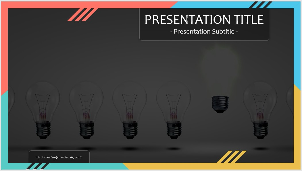 free light bulbs powerpoint #101285 | 14009 free powerpoint, Powerpoint templates