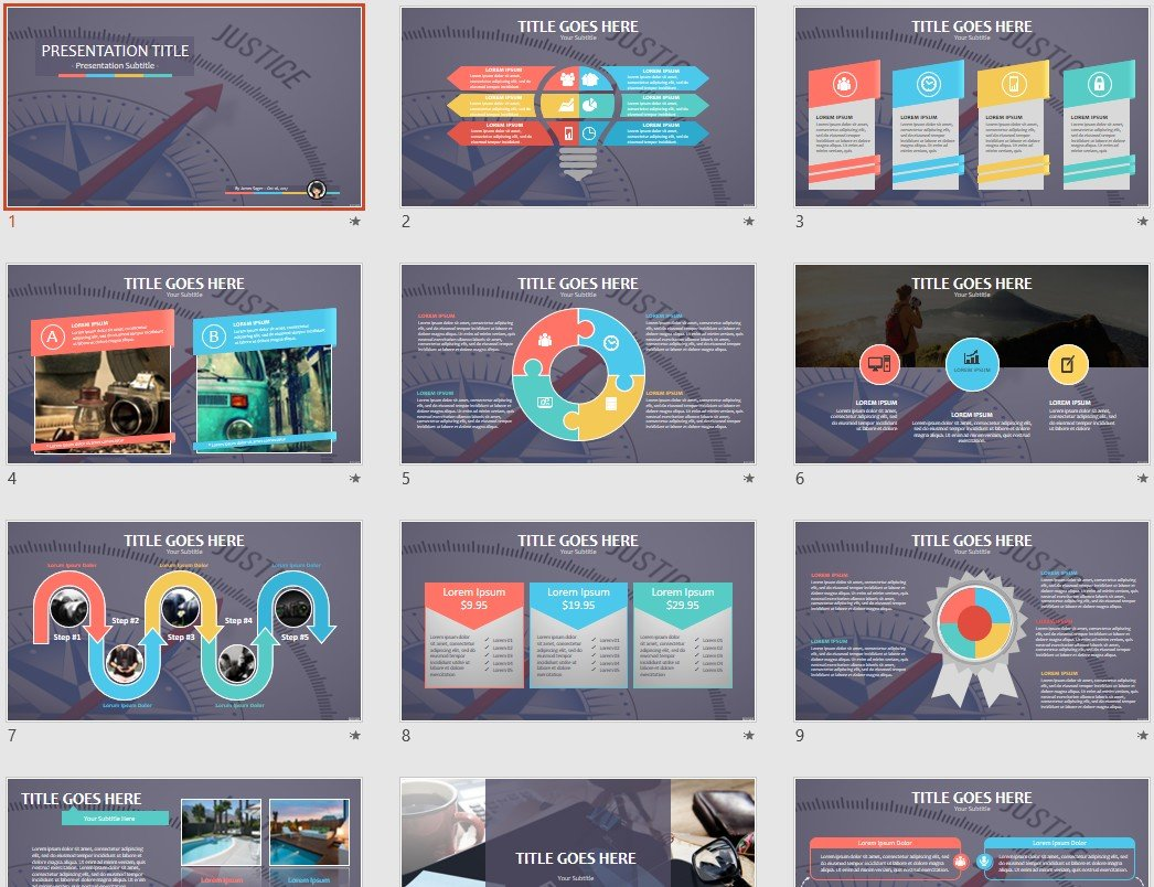 Justice Powerpoint Template 101855