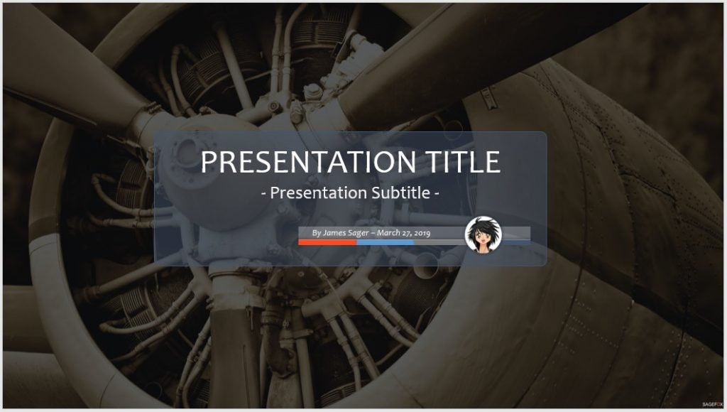 Old Aircraft Powerpoint Template 102236