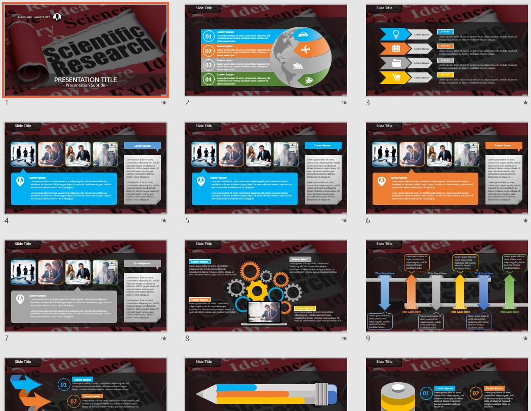 Scientific Research Powerpoint Template 102846