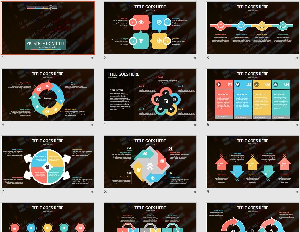 Source Code PowerPoint Template #135849 - SageFox Free