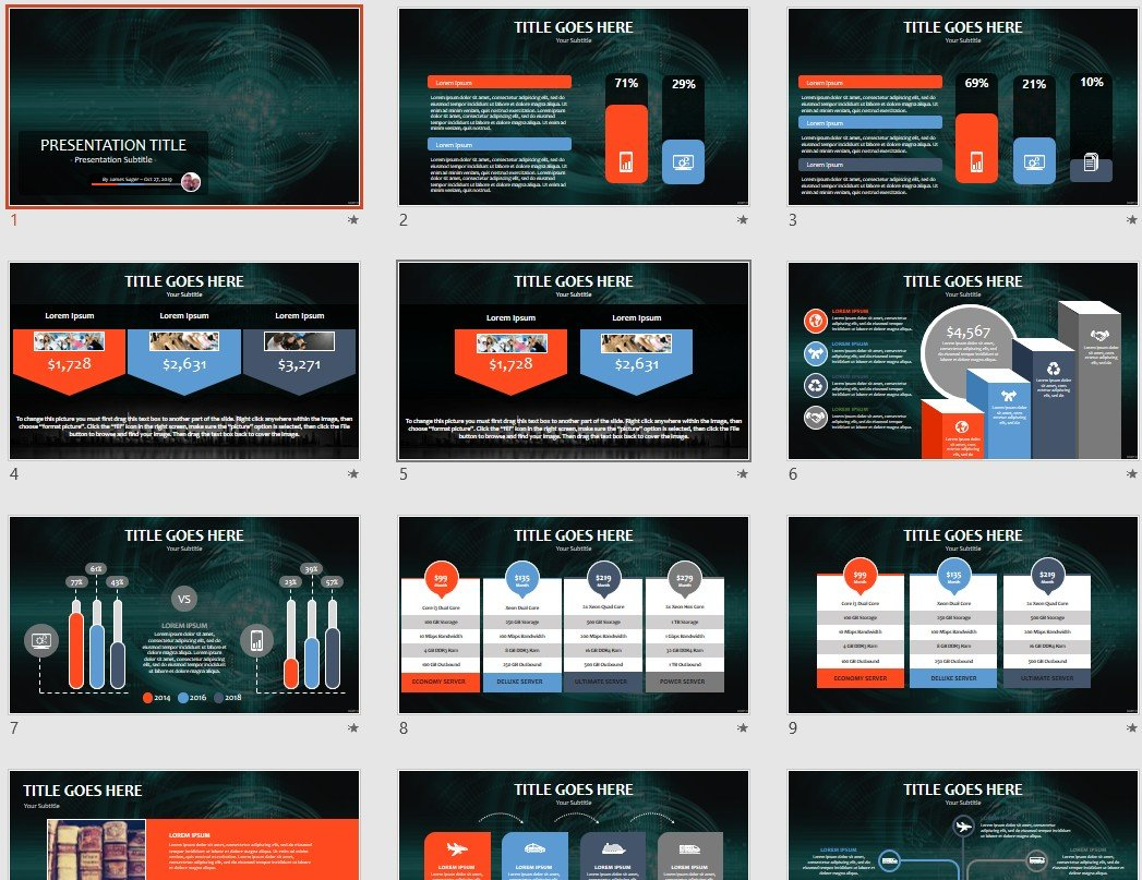 Abstract Technology Powerpoint Template 103517