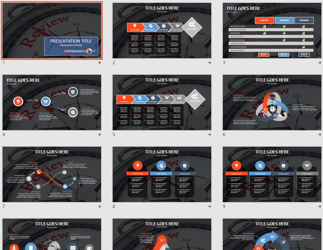 Free Review Powerpoint 103786 Sagefox Free Powerpoint Templates