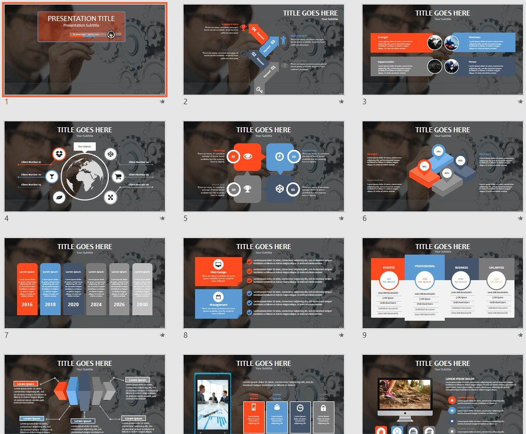 Engineering Powerpoint Template 97930