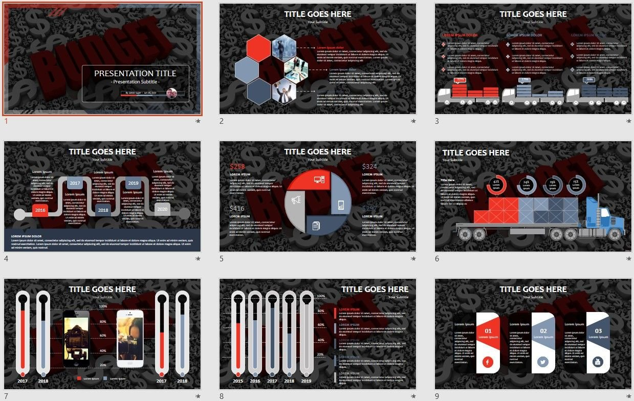 Free Budget Powerpoint 105646 Sagefox Free Powerpoint Templates