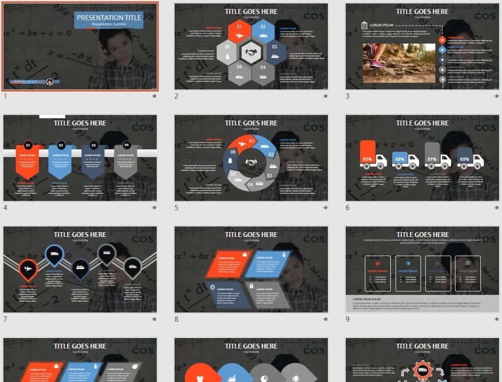 Free Math PPT #79654 | SageFox PowerPoint Templates.