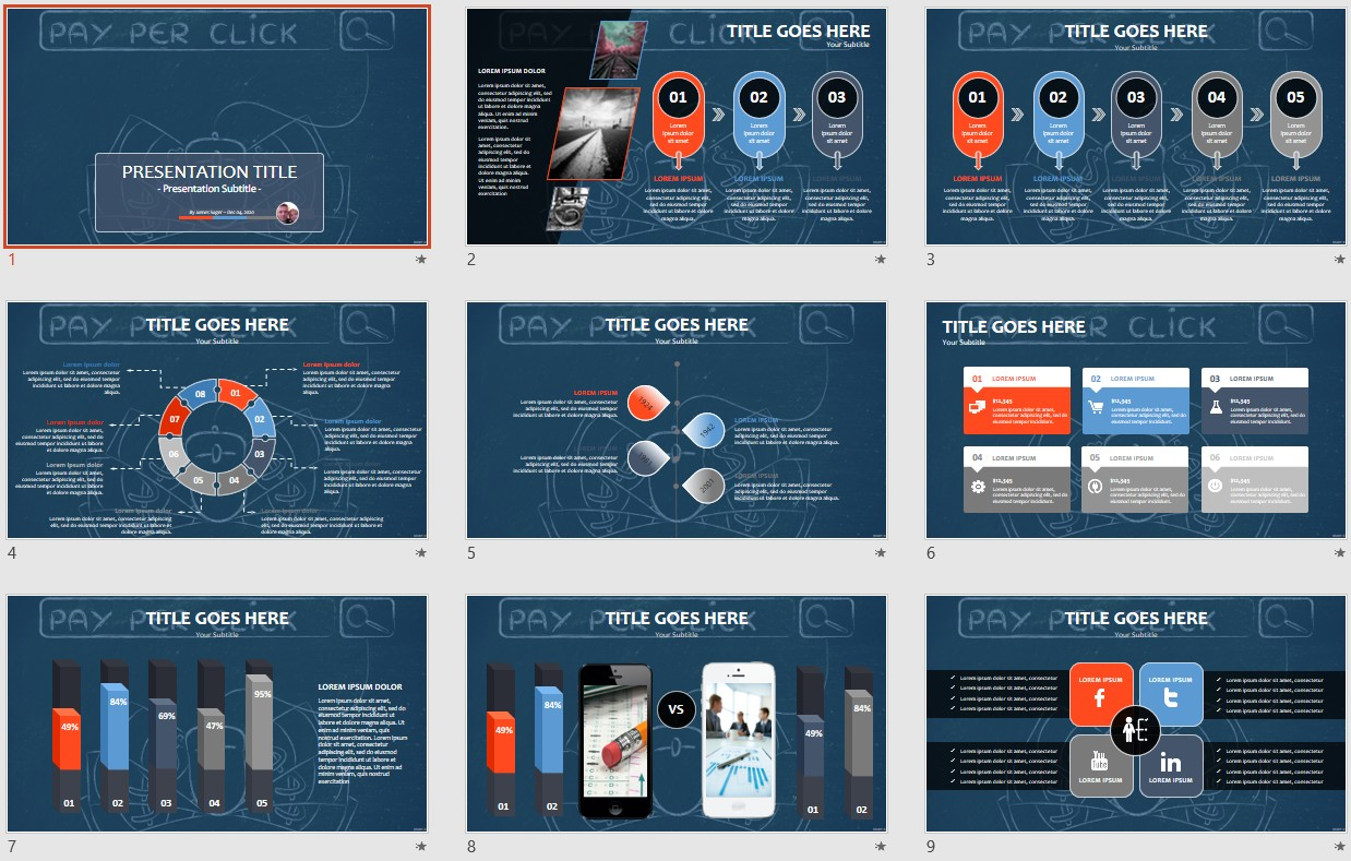 Digital Marketing Powerpoint Template 55837