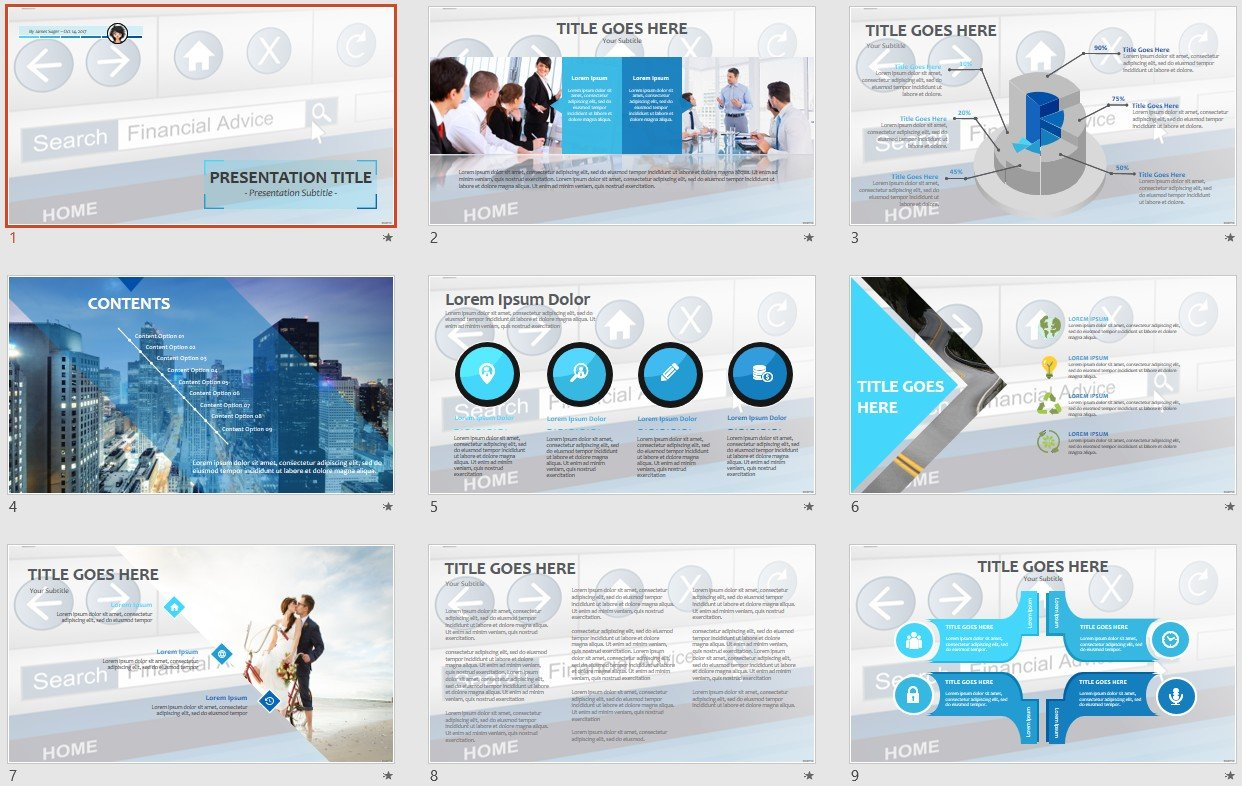 Financial Advice Powerpoint Template 107429