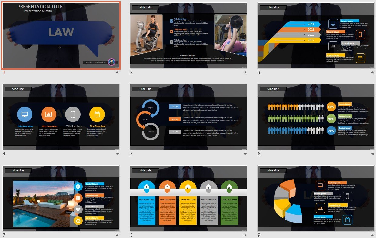 Law Powerpoint Template 109377