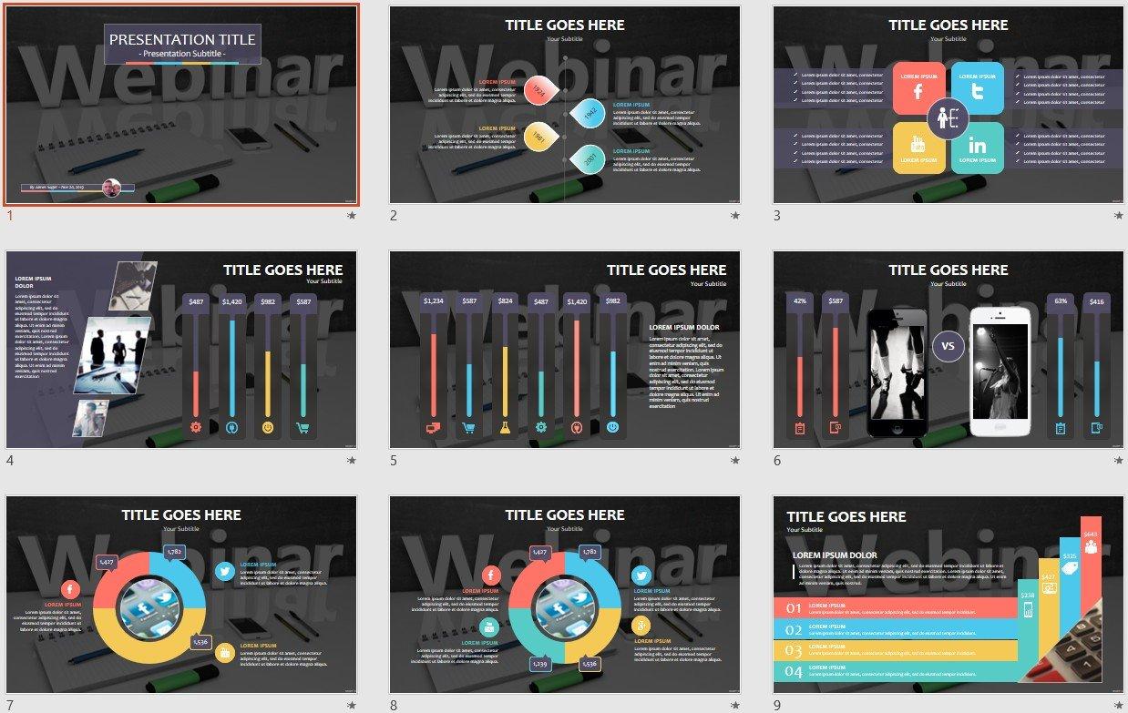 Free Webinar PowerPoint #109705 | SageFox Free PowerPoint Templates.