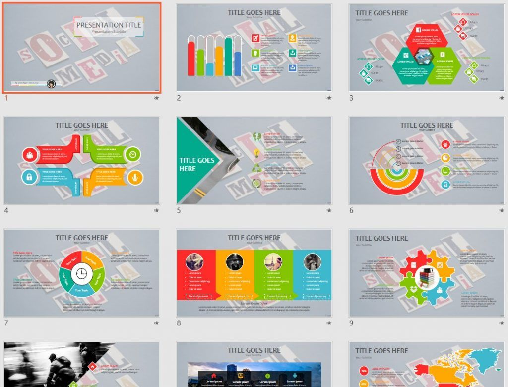 Social Media Ppt Template 94857 Sagefox Free Powerpoint Templates