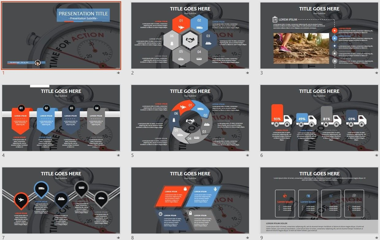 Free Time for Action PPT #106010 | SageFox Free PowerPoint Templates.