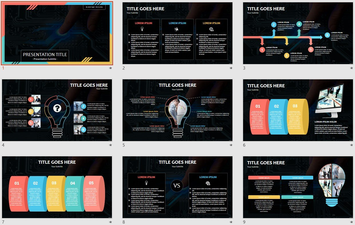 Free Circuit Board Powerpoint 96824 Sagefox Template
