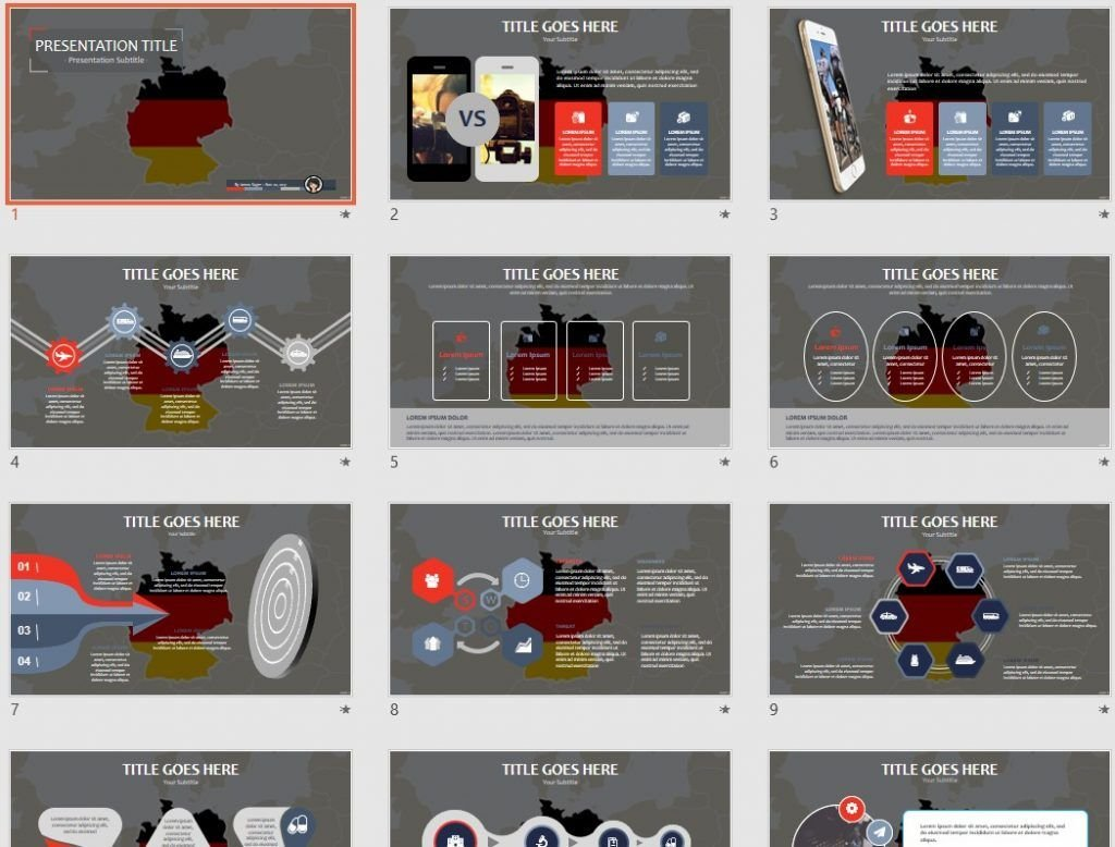 Free germany ppt 72161 sagefox free powerpoint templates by james sager toneelgroepblik Image collections