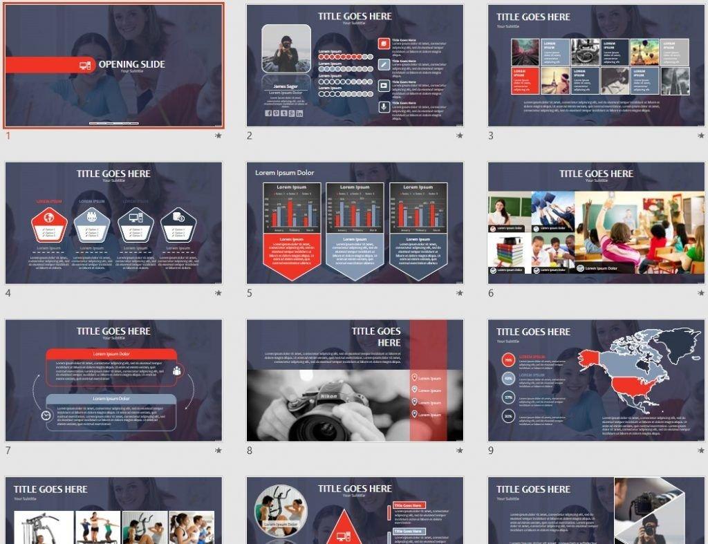 14195 free powerpoint templates | sagefox free powerpoint templates., Modern powerpoint