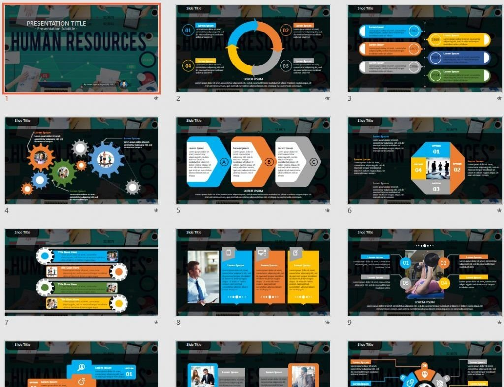 Human Resources Powerpoint Template 58156