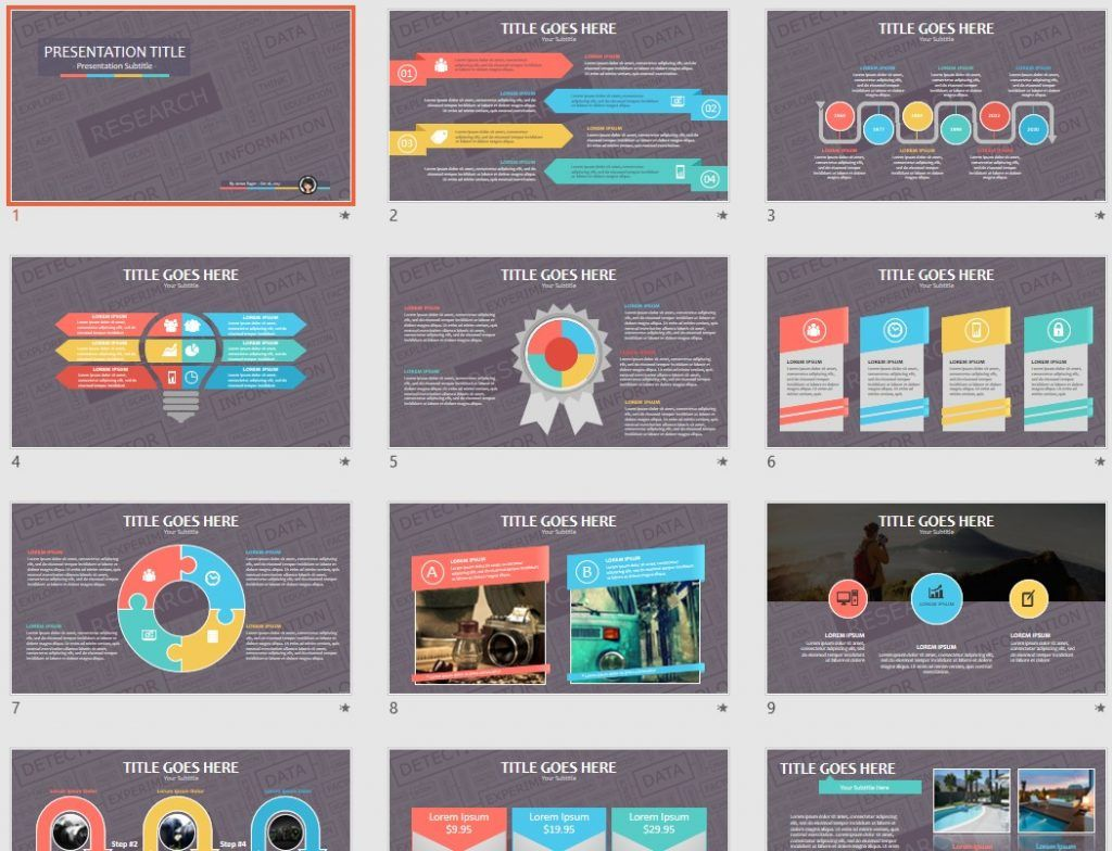 Research Powerpoint Template 82470
