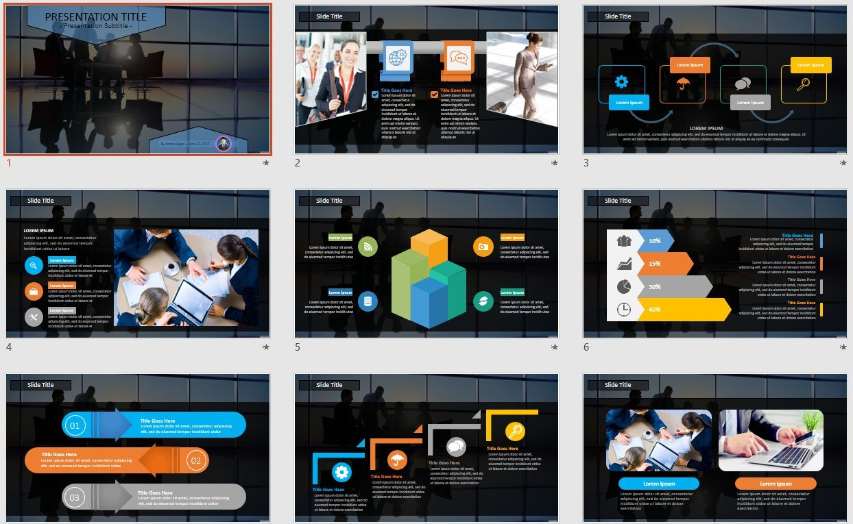 Business Meeting Powerpoint Template 113209