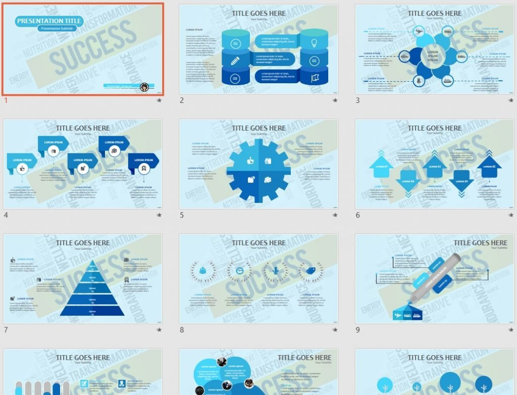 Free Success Powerpoint 68714 Sagefox Free Powerpoint Templates