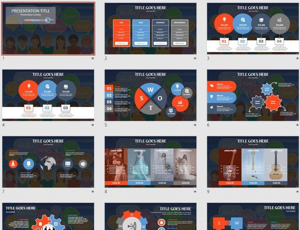 Free language school powerpoint 93384 sagefox free powerpoint by james sager toneelgroepblik Images