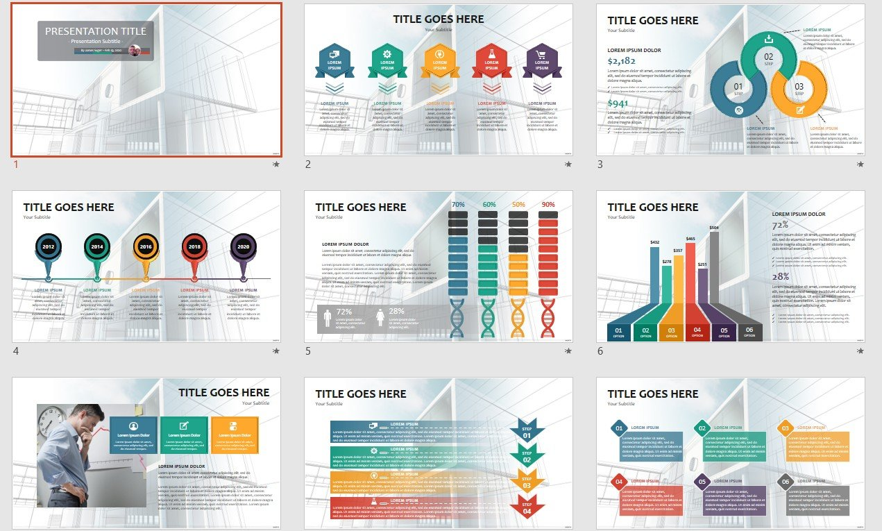 Architecture Powerpoint Template 110535