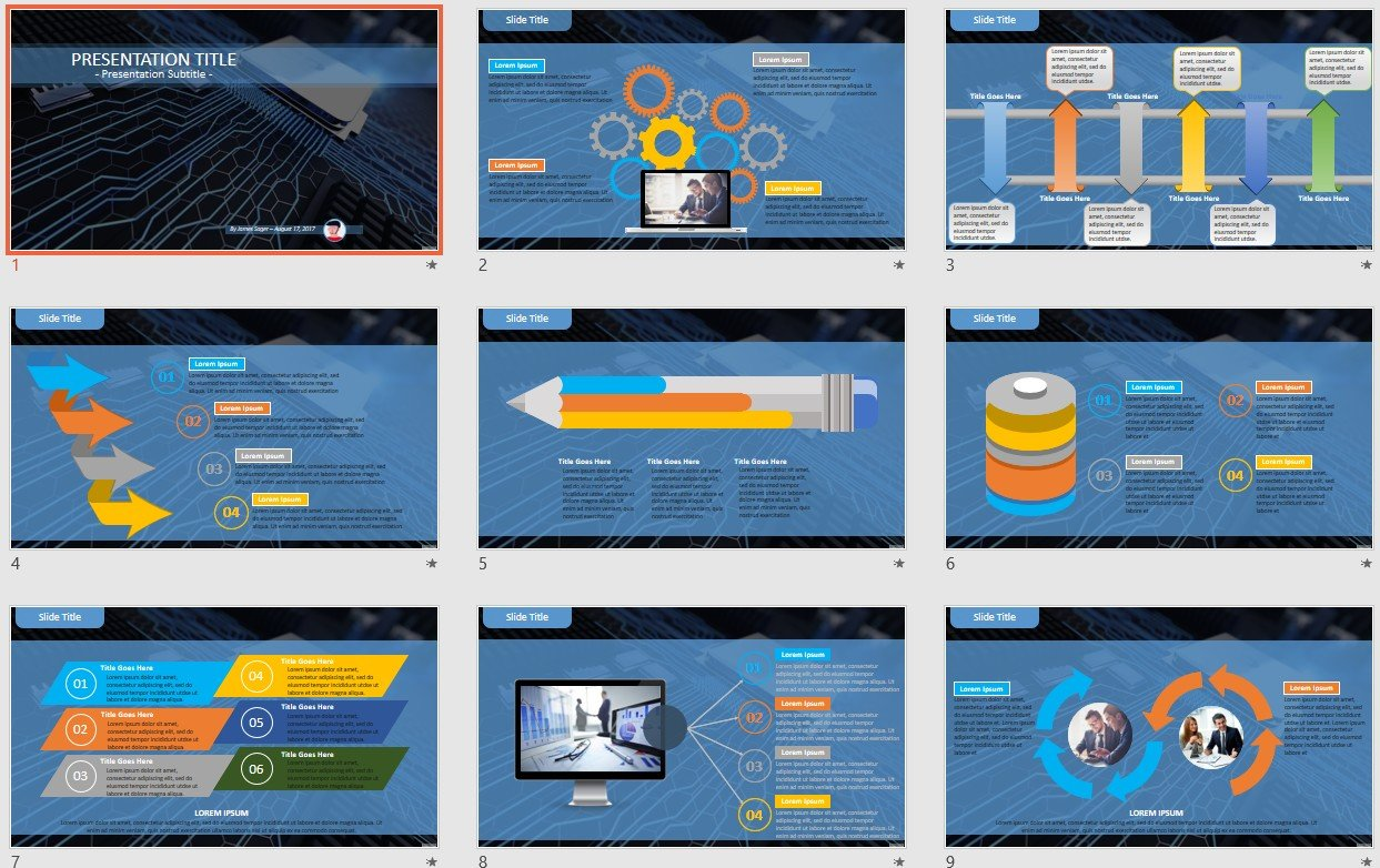 Free Circuit Board Ppt 94075 Sagefox Powerpoint Templates Template