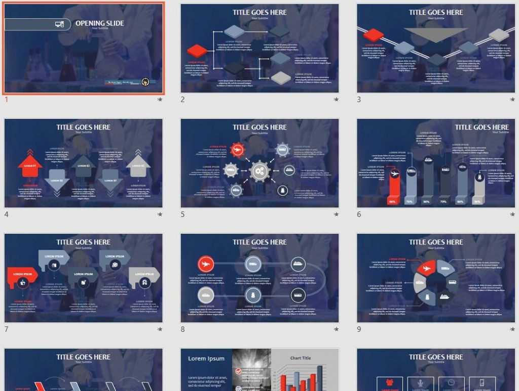 Chemistry Lab Powerpoint Template 66018