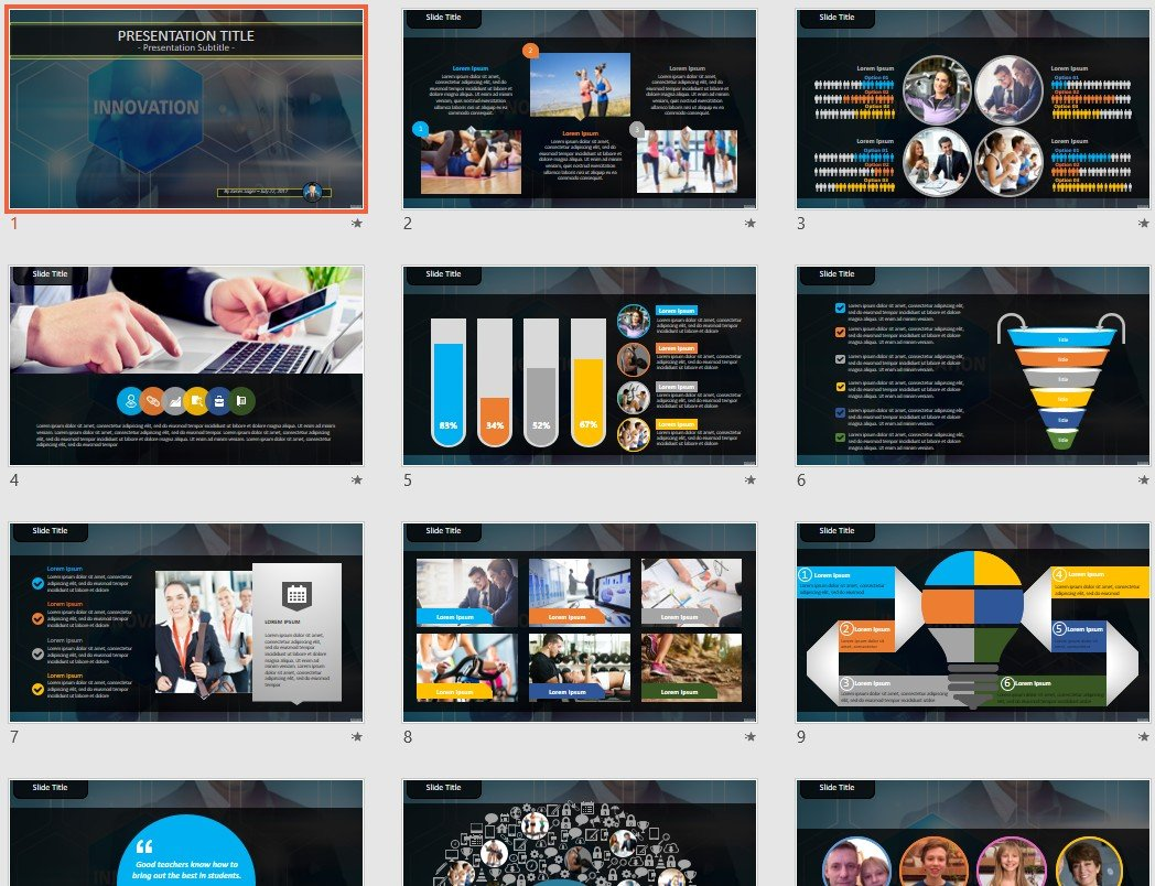 free innovation powerpoint 92438 sagefox free powerpoint templates