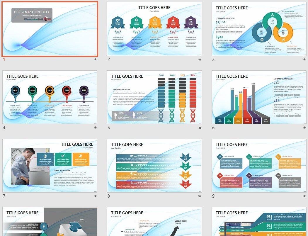 Blue Abstract Powerpoint Template 124249