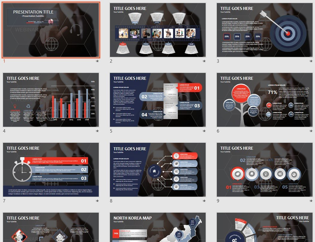 Free Webinar PowerPoint #124297 | SageFox Free PowerPoint Templates.