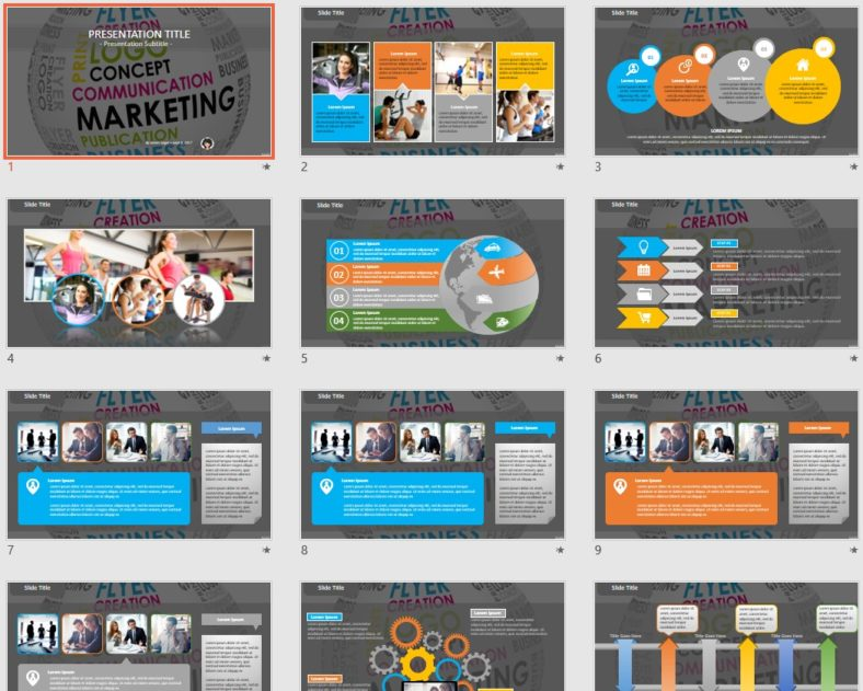 free marketing powerpoint 95333 sagefox free powerpoint templates