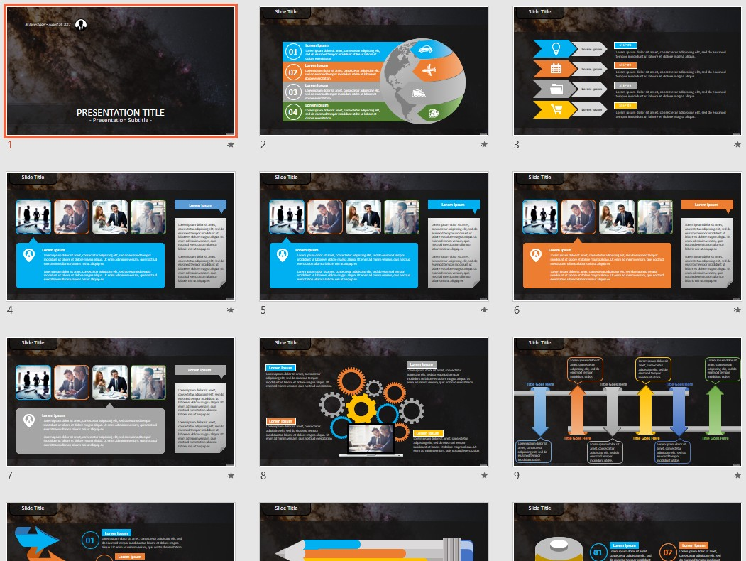 Space Powerpoint Template 130405 Sagefox Free Powerpoint
