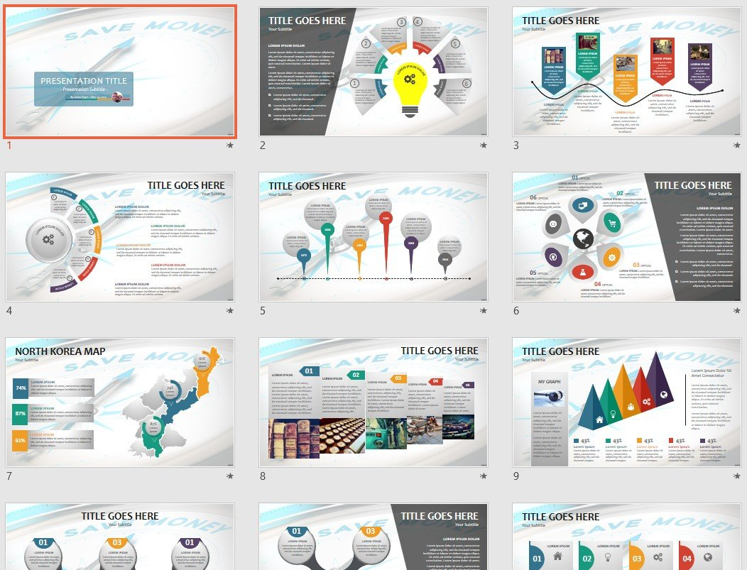 Save Money Powerpoint Template 132626