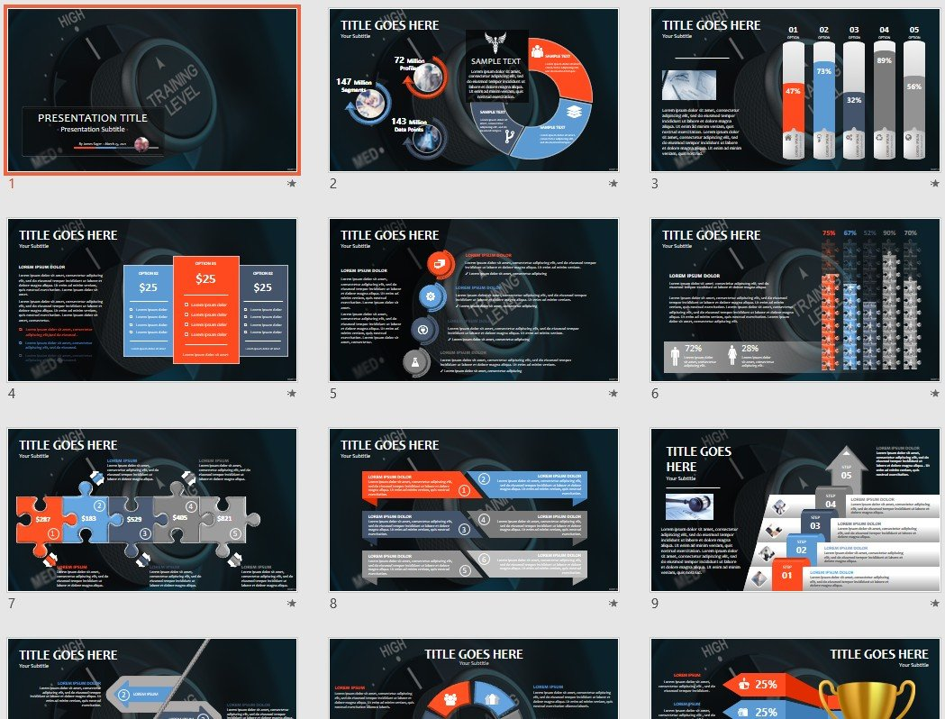 training powerpoint template  48212