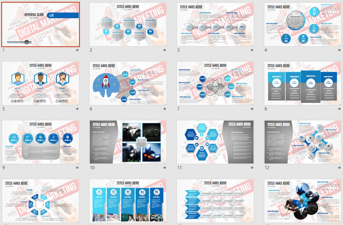 Digital Marketing Powerpoint Template 135660