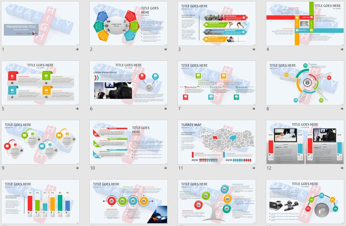 High Quality Powerpoint Template 139613