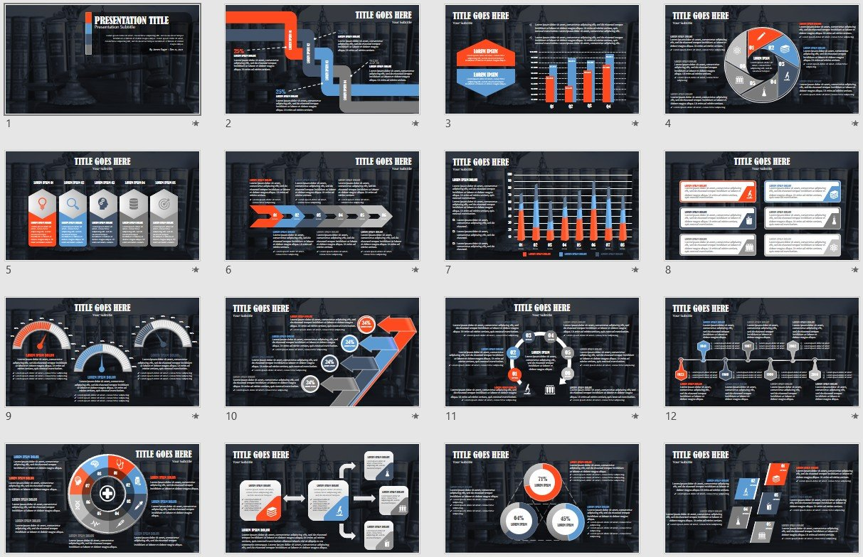Scales Of Justice Powerpoint Template 139729