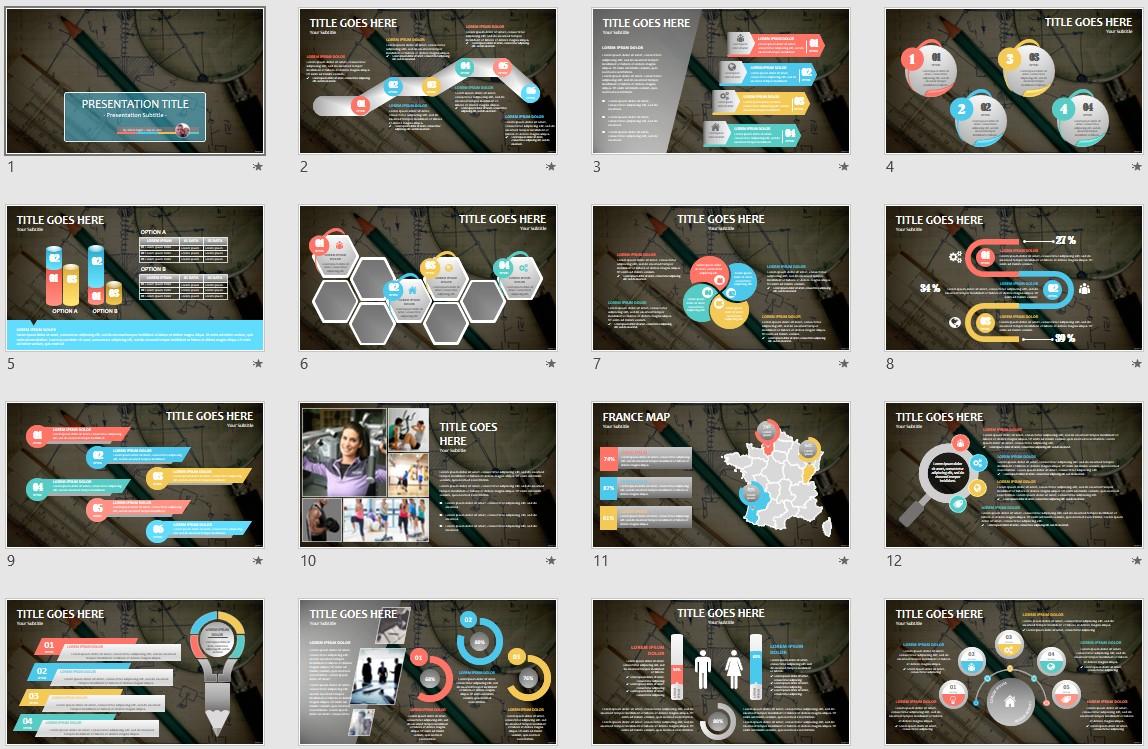 Blueprints Powerpoint Template 140030