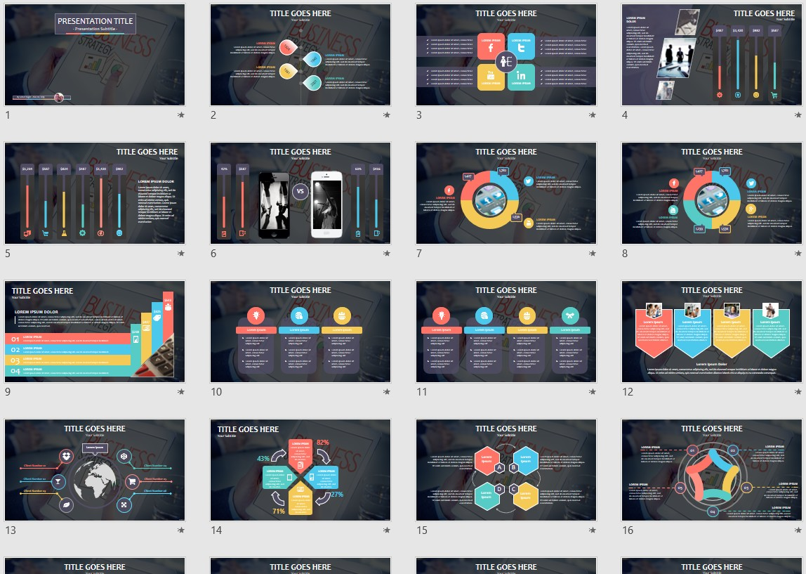 Business Strategy Powerpoint Template 95168