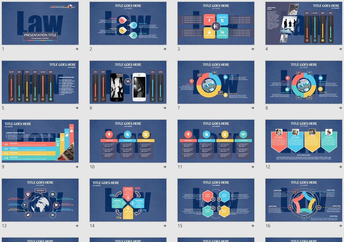 Law Powerpoint Template 145817
