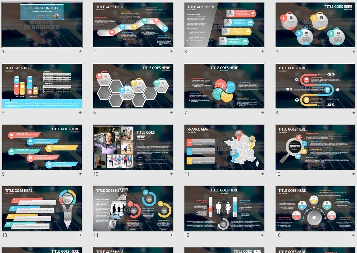 Human Resources Powerpoint Template 55137