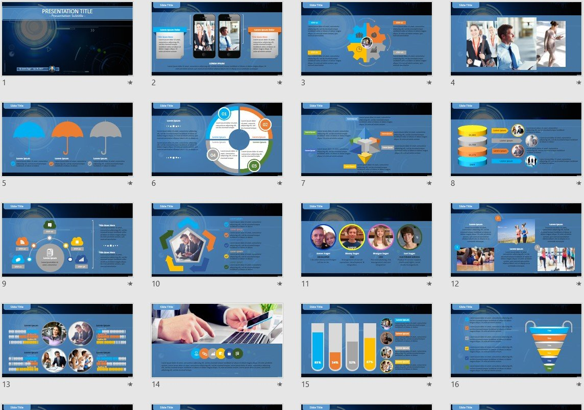 Blue Abstract Powerpoint Template 95708 Sagefox Free