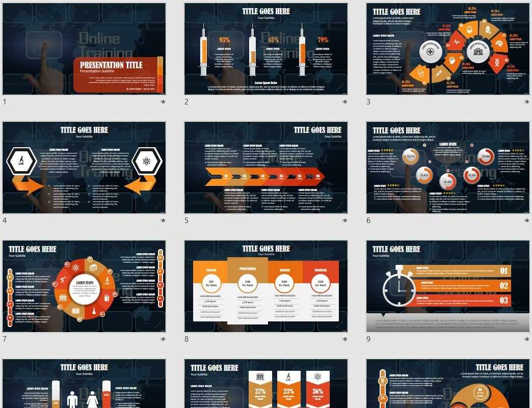 online training powerpoint template  45823
