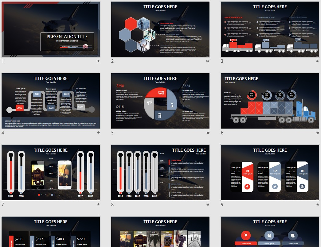 Space Shuttle Powerpoint Template 160411